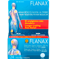 Flanax Pain Reliever Tablets